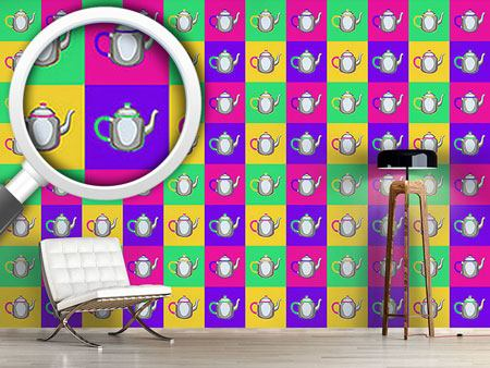 Pattern Wallpaper Pop Art Pots