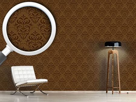 Pattern Wallpaper Chocolate Baroque