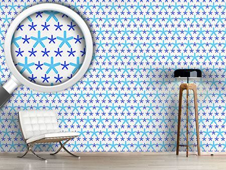 Pattern Wallpaper Snowflakes Dance On Dots