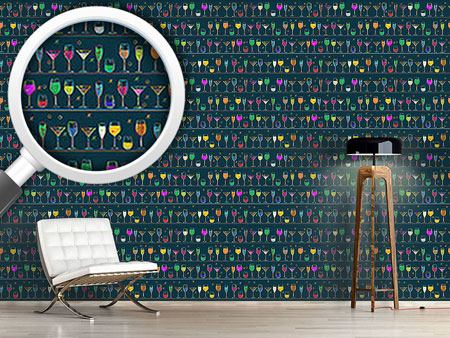 Pattern Wallpaper Cocktails