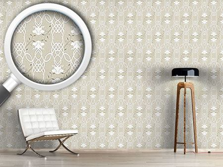 Pattern Wallpaper Entwined Roses