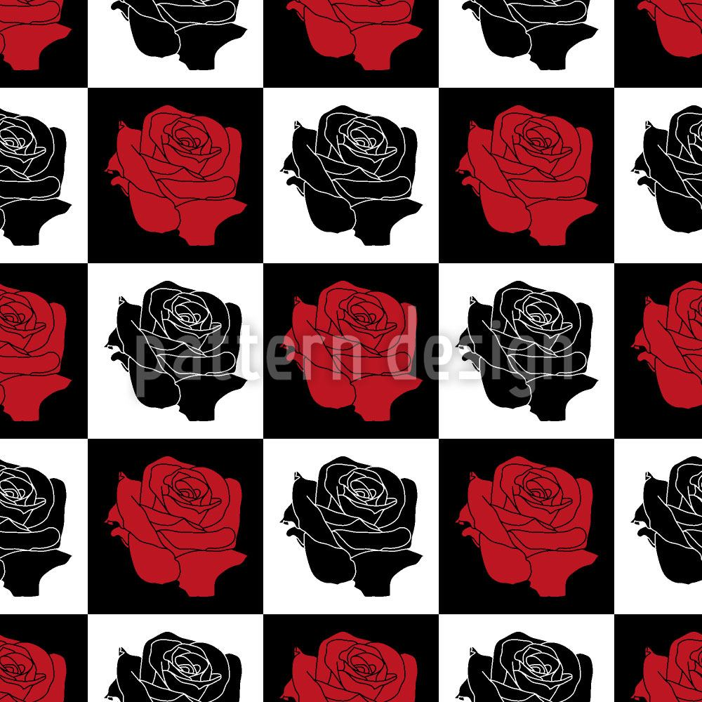 Papier peint design Chess Board With Roses