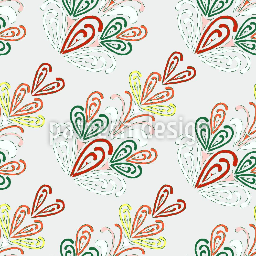 Pattern Wallpaper Ornate Fir