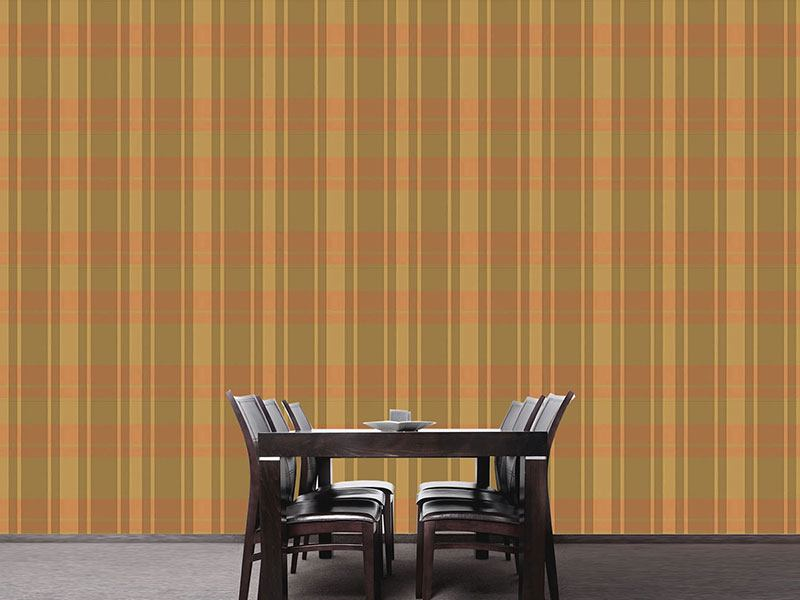 Pattern Wallpaper Tartan Brown