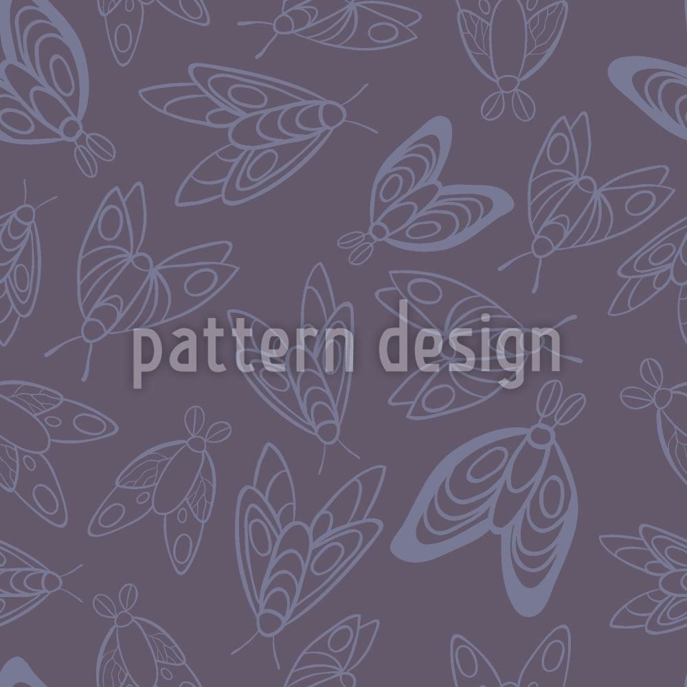 Pattern Wallpaper Moths