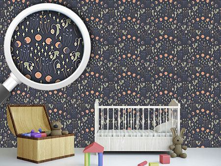 Pattern Wallpaper Moon Phases
