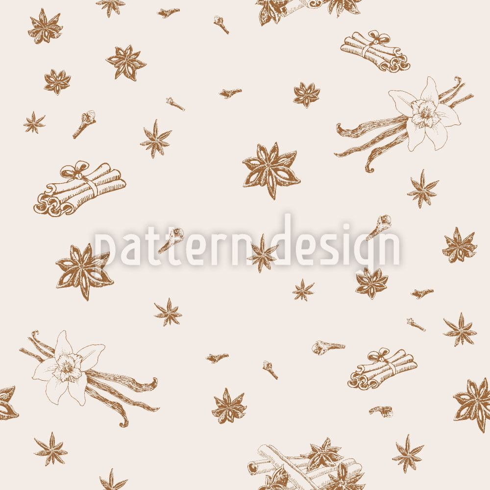Pattern Wallpaper Spices