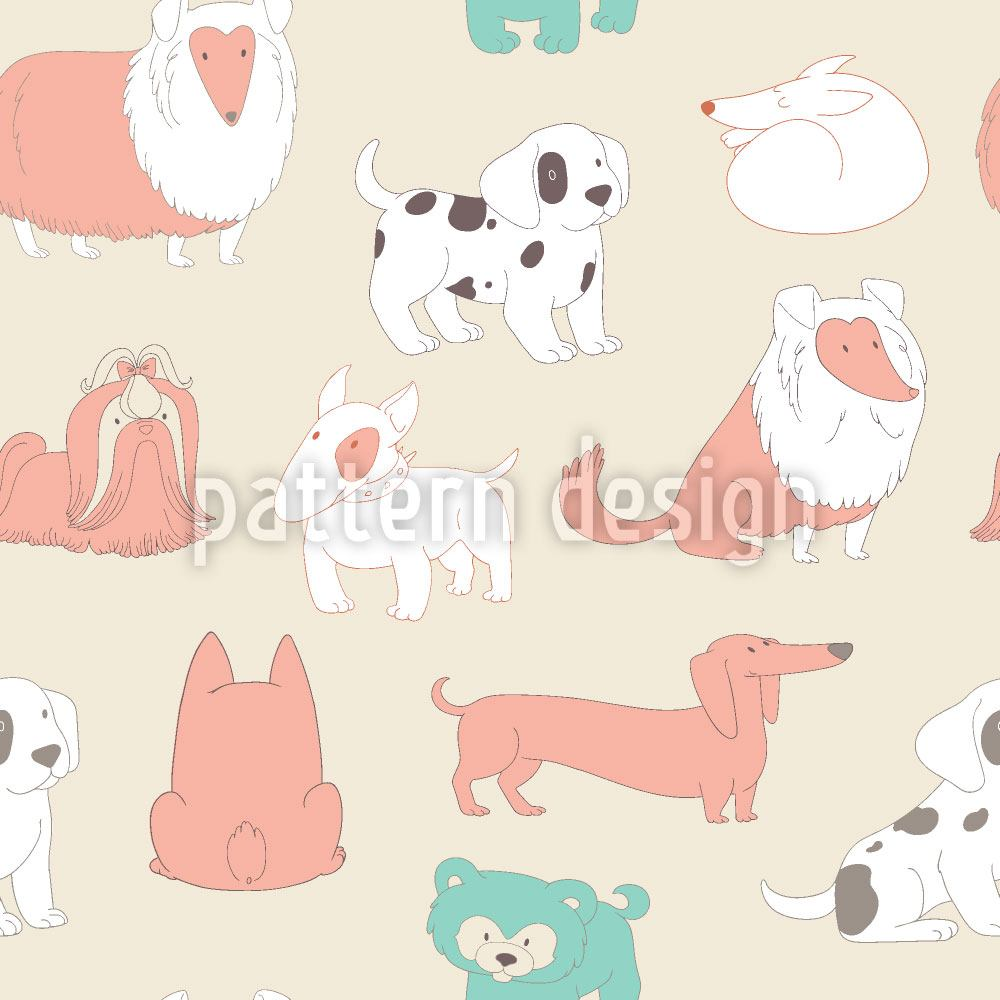 Papier peint design Cute Dogs