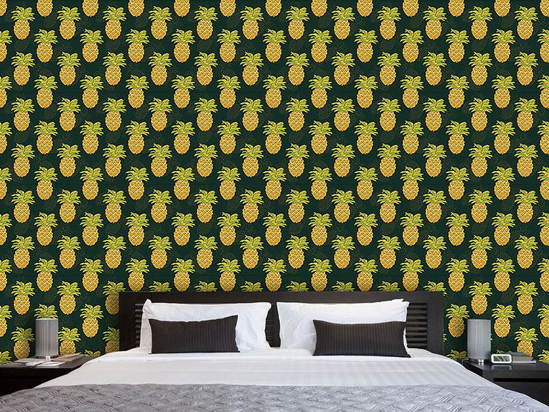 Papier peint design Ripe Pineapples