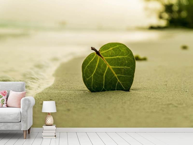 Photo Wallpaper Beach leaf