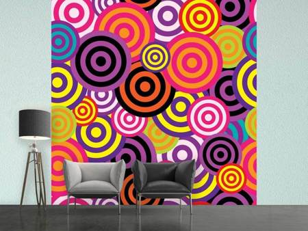 Photo Wallpaper Colorful retro circles