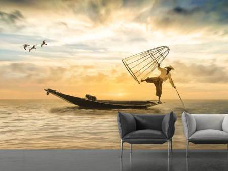 Photo Wallpaper Artful fisherman
