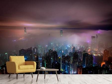 Photo Wallpaper Smog in Hong Kong