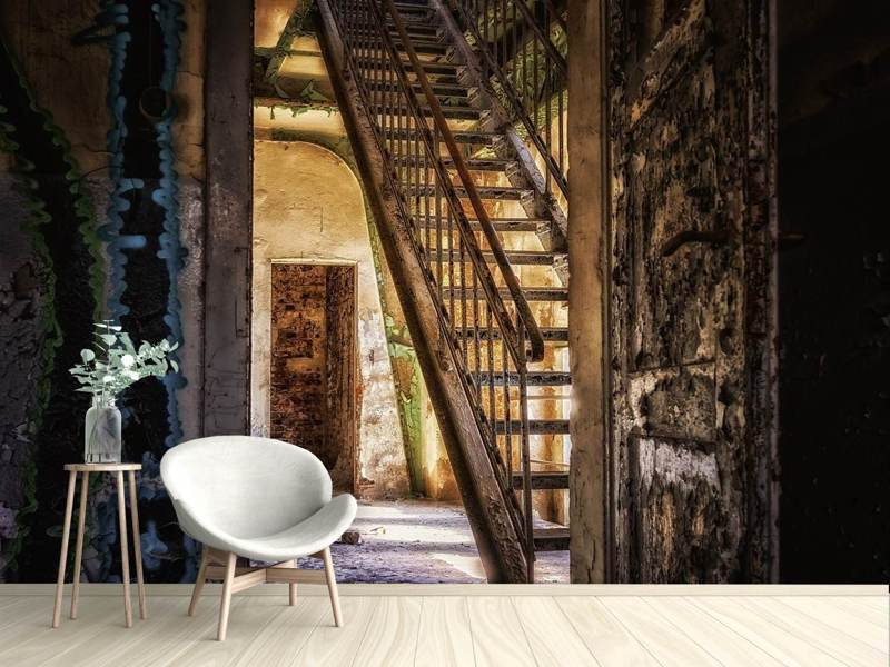 Photo Wallpaper Old stairs