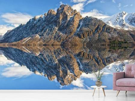 Photo Wallpaper Idyllic mountain lake