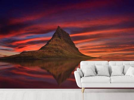 Photo Wallpaper Kirkjufell at sunset