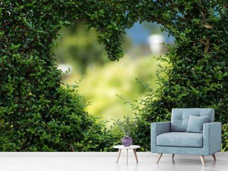 Photo Wallpaper The heart in the hedge