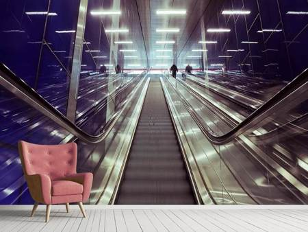 Photo Wallpaper Modern escalators
