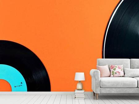 Photo Wallpaper Retro vinyl record motif