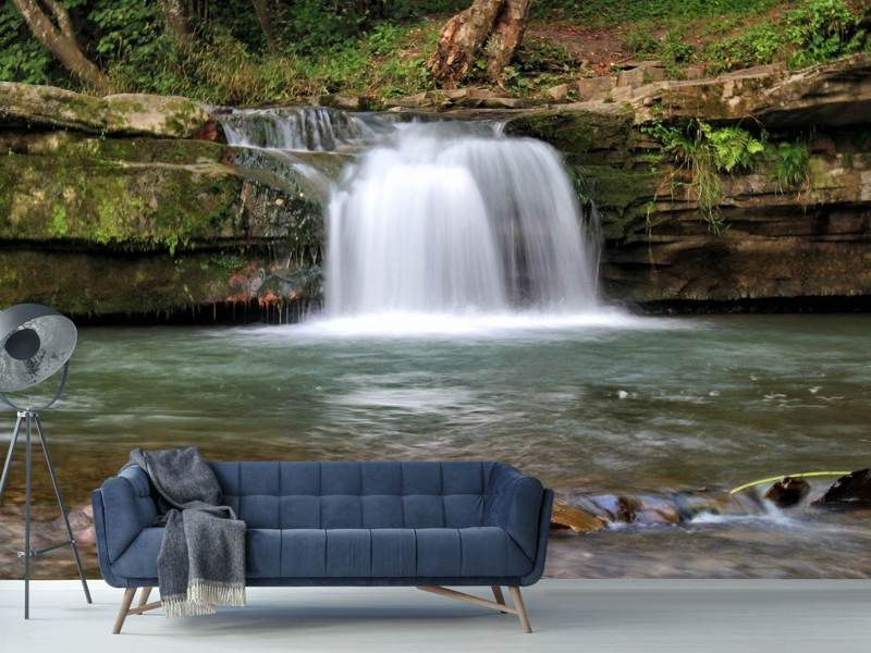 Photo Wallpaper Best view of the waterfall