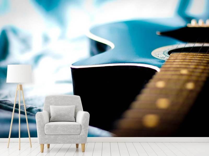 Photo Wallpaper Close Up Guitar Shop Now