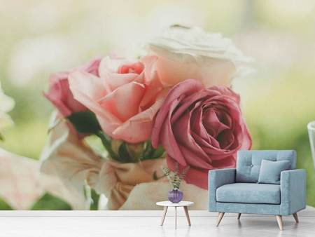 Photo Wallpaper Enchanted roses