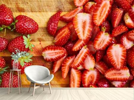 Photo Wallpaper Fresh strawberries