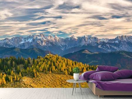 Photo Wallpaper The idyllic mountain world