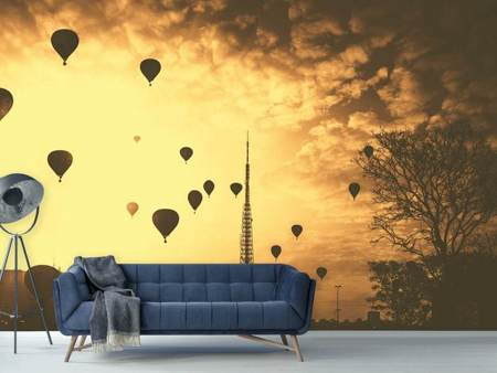 Photo Wallpaper Many hot air balloons