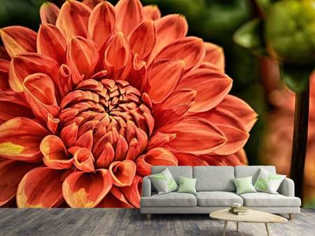 Photo Wallpaper Painting of a dahlia