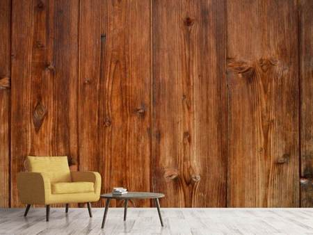Photo Wallpaper Wooden wall texture