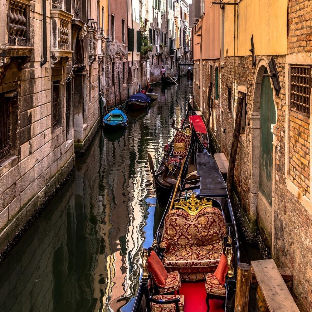 Fototapete Venedig Gondeln Abend Kleistertapete oder Selbstklebende Tapete