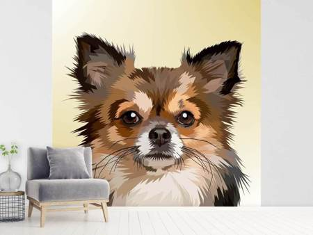 Papier peint photo Portrait de chien Pop Art