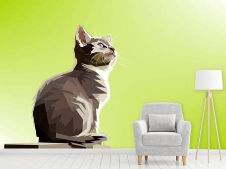 Photo Wallpaper Pop Art Cat XL