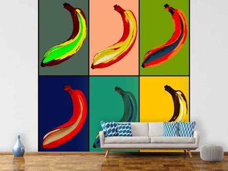 Photo Wallpaper Colorful bananas