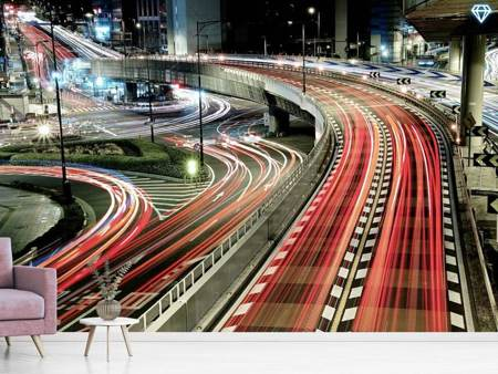 Photo Wallpaper Chaotic Traffic