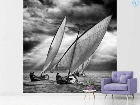 Papier peint photo Sailboats And Light