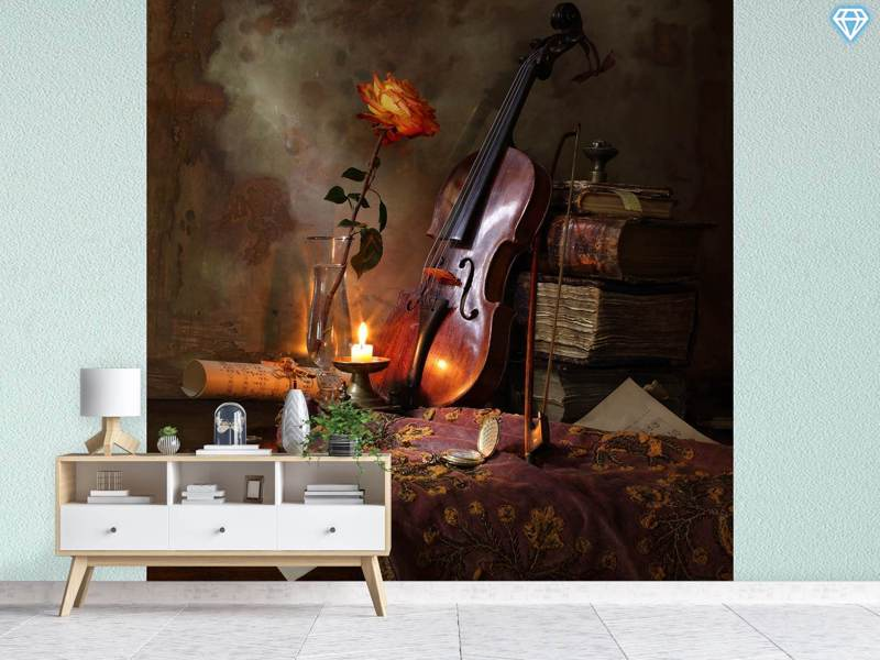 Papier peint photo Still Life With Violin And Rose