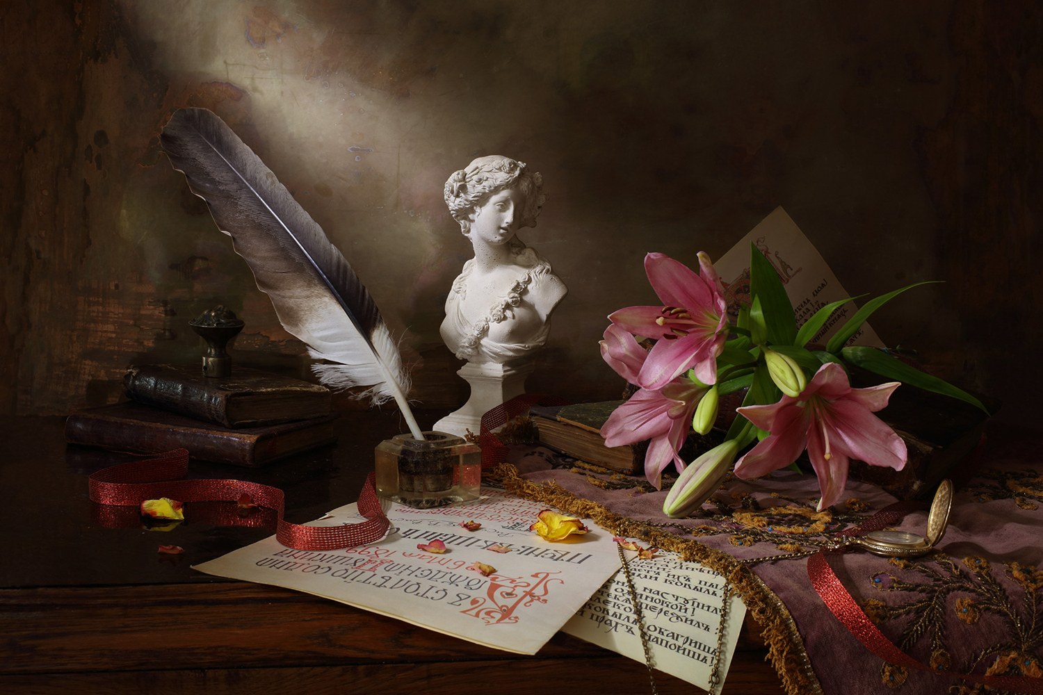 Fotomurale Still Life With Lily And Bust