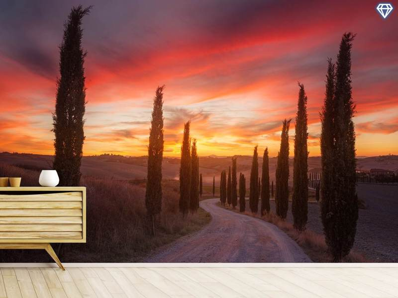 Photo Wallpaper Tuscany Sunset