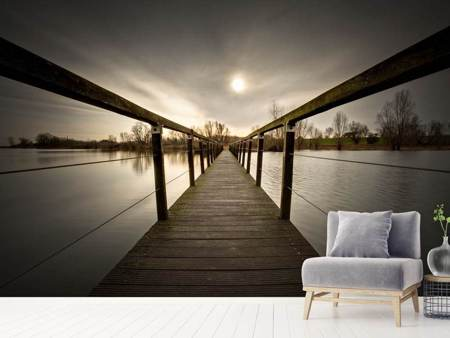 Photo Wallpaper The Wooden Bridge