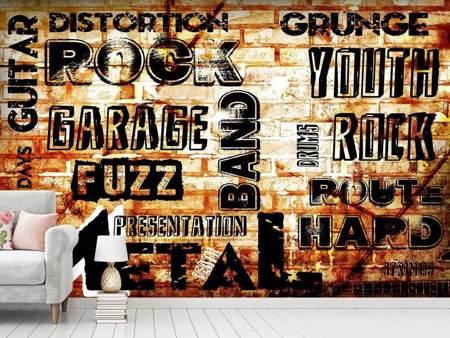 Photo Wallpaper Rock In Grunge Style