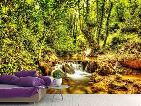 Photo Wallpaper Waterfall In The Forest