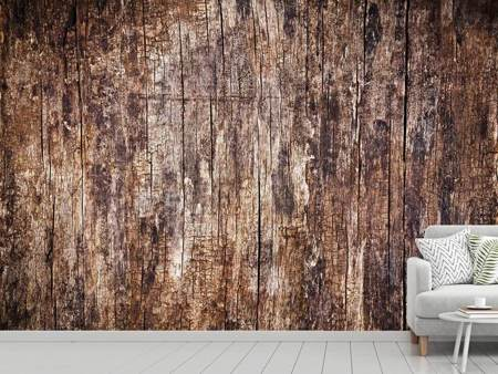 Photo Wallpaper Retro Wood
