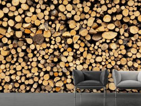Photo Wallpaper Firewood