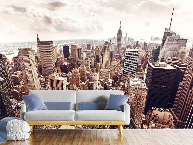 Photo Wallpaper Skyline Over The Roofs Of Manhattan