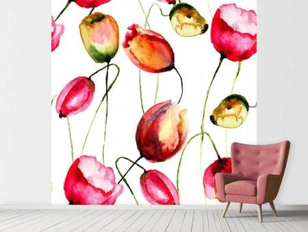 Photo Wallpaper Painting The Tulips