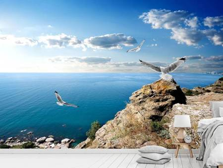 Photo Wallpaper The Seagulls And The Sea