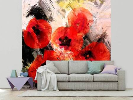 Photo Wallpaper Poppy Portrayal