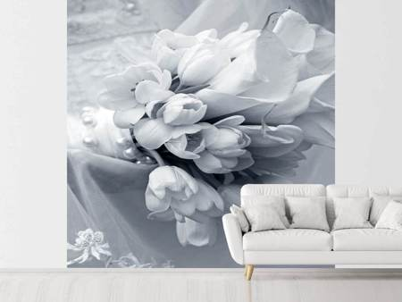 Papier peint photo Bouquet de tulipes romantique
